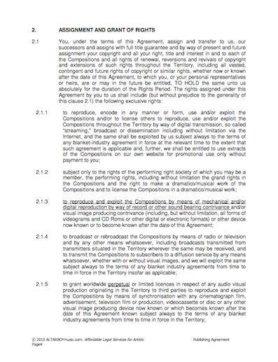 Publishing Agreement Template A Publishing Contract Our Contracts Pinterest Template Free Publishing Contract Template