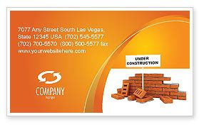 under construction business card template layout