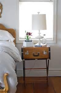 luggage nightstand decor hacks