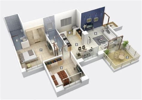 plan appartement 2 chambres idee plan3d appartement 2chambres 37