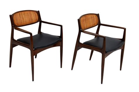 Arm Chairs by Pair Of Arm Chairs By Selig Made In Denmark Cane Back