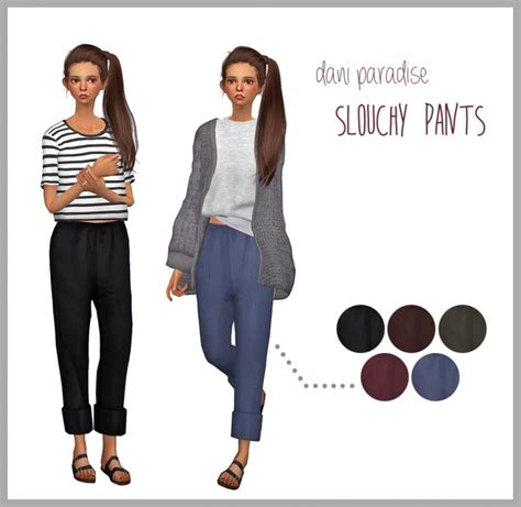 sims 4 clothing for females sims 4 updates slouchy pants at dani paradise sims 4 updates the sims