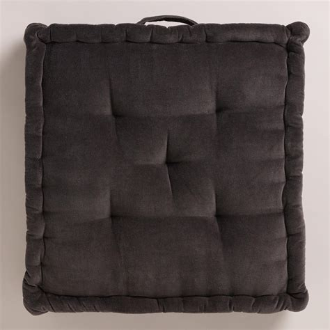 gray velvet floor cushion world market
