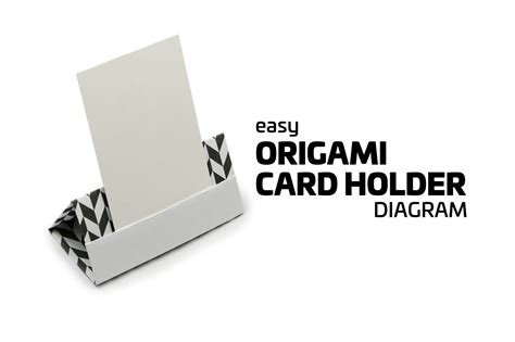 Origami Stand - easy origami card stand tutorial