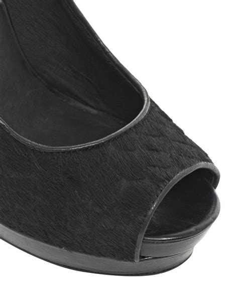 house of harlow shoes house of harlow 1960 dusty croco heeled shoes in black lyst