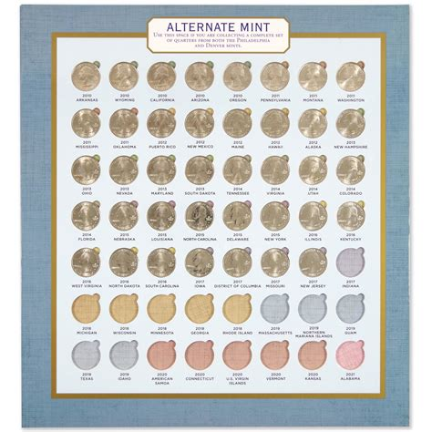 national park quarters collector map 2010 to 2021 includes a bonus san francisco s minted coin books national parks commemorative quarters collector s map 2010
