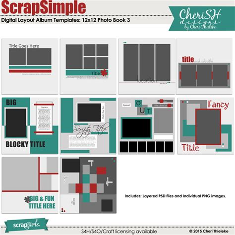 photobook templates free scrapsimple digital layout album templates photo book 3