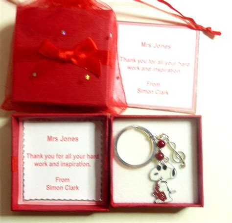 thank you gifts ebay thank you gift for music teacher keyring snoopy musical