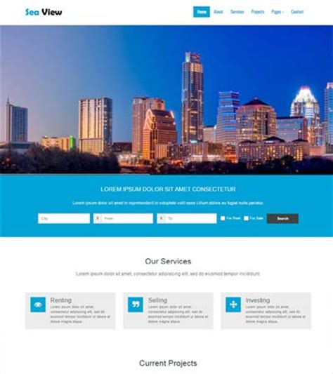 Free Real Estate Responsive Website Templates Popteenus Com Real Estate Responsive Website Templates Free