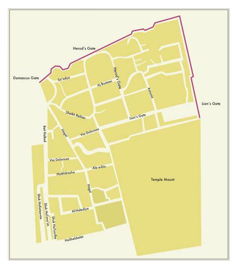 quarter map muslim quarter jerusalem city site