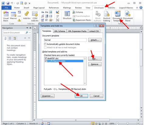 templates vba word word macro enabled template 28 images how to make