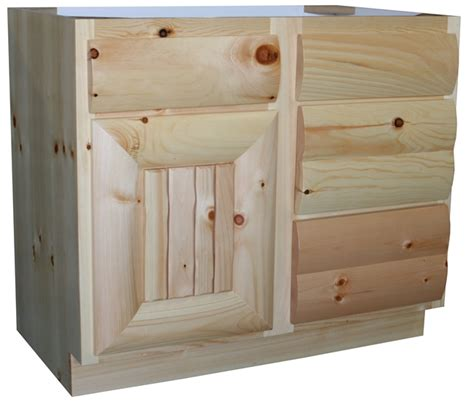Pine Vanity Cabinet by Knotty Pine Vanity Vanity Cabinets Pine Log Bathroom