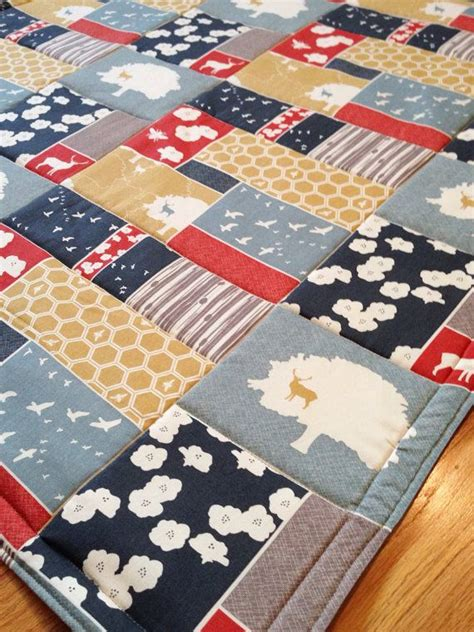 Organic Play Mat by Large Organic Baby Play Mat Forest And Flight Patchwork