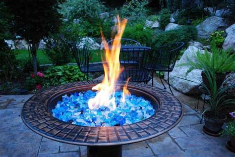Colored Glass Fire Pit Garden Pinterest Glass For Pit