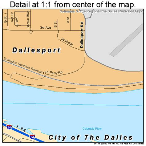the dalles oregon map city of the dalles oregon map 4113425