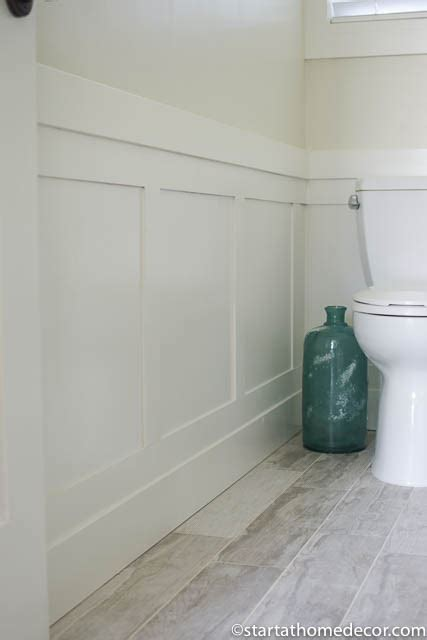 Diy Wainscoting Bathroom by Diy Wainscoting For 50 Start At Home Decor