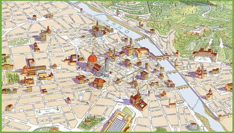 map of florence italy florence map my