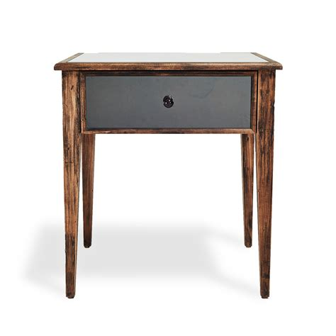 small night table brown night stands windville dark brown one drawer night