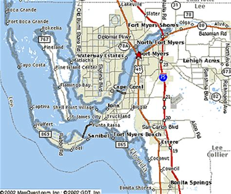 fort myers florida map fort myers map my
