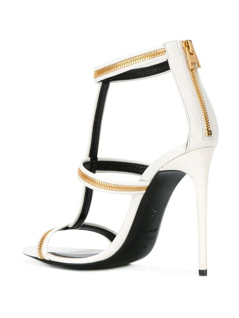 tom ford zipped sandals in white lyst