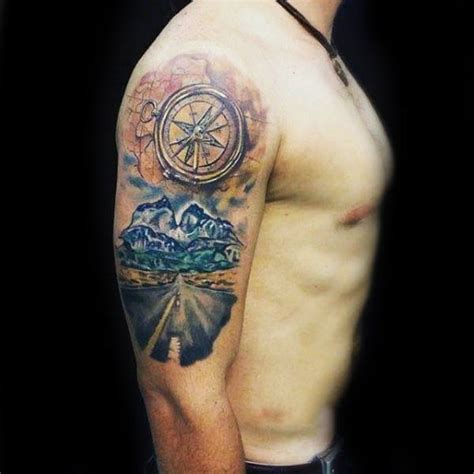 road tattoo designs 75 travel tattoos for adventure design ideas