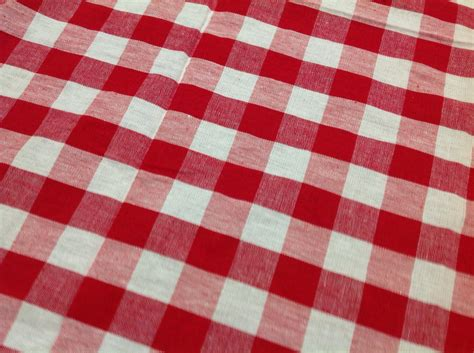 red and white gingham tablecloth vintage checkered red and