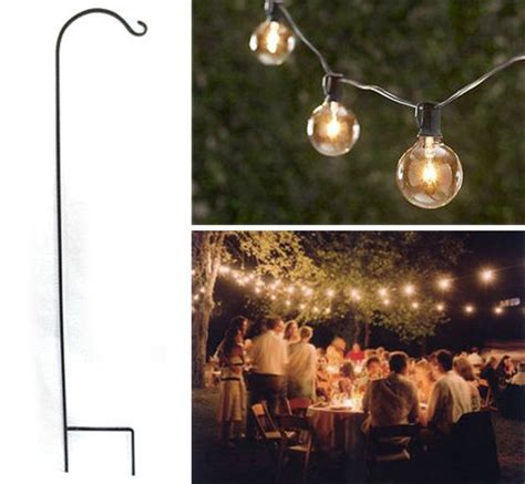 Cheap Backyard Lighting Ideas Outdoor Lighting Ideas Inexpensive Shepherds Hooks Event Decor Outdoor