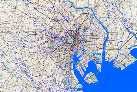 map of tokyo city maps tokyo