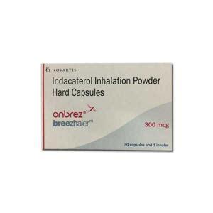 Onbrez Breezhaler 300mcg onbrez capsules inhaler novartis indacaterol 300mcg capsules inhaler price in india