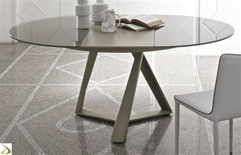 tavolo rotondo cristallo tavolo design rotondo millennium di bontempi arredo