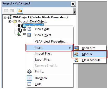 access vba delete excel macro to delete blank rows and columns how to