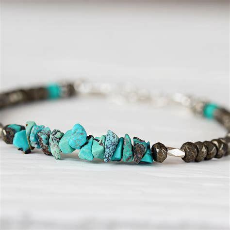 turquoise december birthstone bracelet by artique boutique