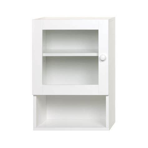 chic white medicine cabinet bathroom shelf glass wood