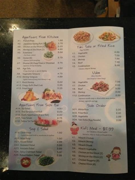 Sake House Menu by Menu Picture Of Sake House Watertown Tripadvisor
