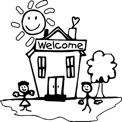 welcome to school coloring page coloring pages ideas