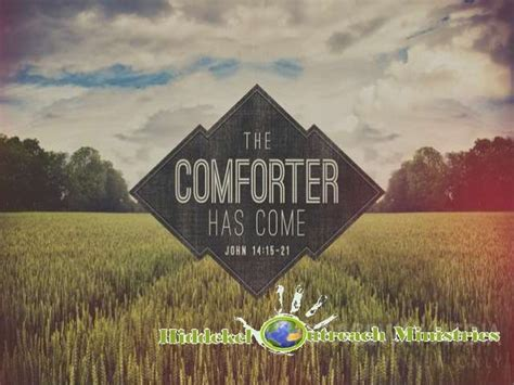 the comforter has come the comforter has come