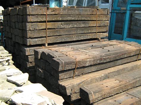 Rail Sleepers by Reclaimed Railway Sleepers Reclamation Yard