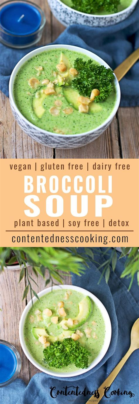Detox Broccoli Zucchni Soup by Detox Broccoli Soup Contentedness Cooking