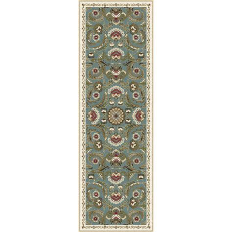 tayse rugs majesty seafoam 2 ft 3 in x 11 ft runner