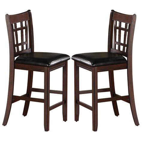 set of 2 lavon 24 quot inch counter height bar stools