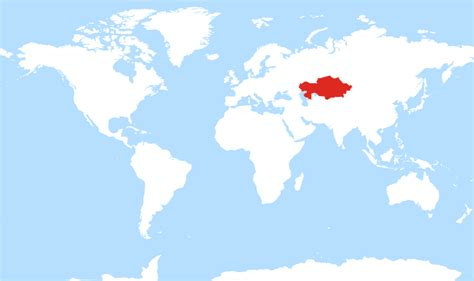 kazakhstan on the world map where is kazakhstan located on the world map