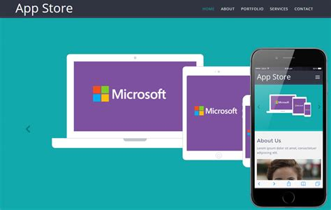 mobile appstore appstore mobile website template on air code