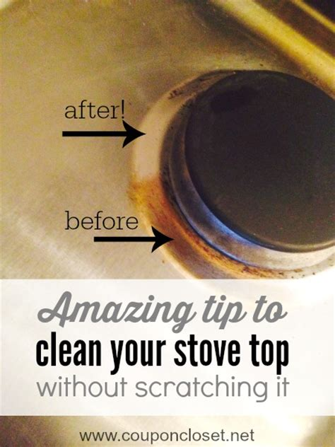 how to clean stove top with one easy step coupon closet