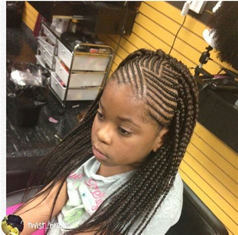 kids scalp braids with loose ends kids cornrows with single plait at the back braids