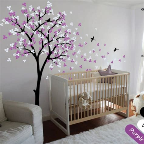 modern nursery wall decals wall shelf tree nursery wall