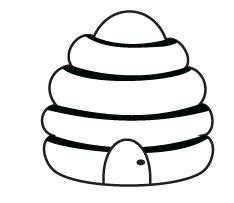 Beehive Template by Bee Hive Template Clipart Best