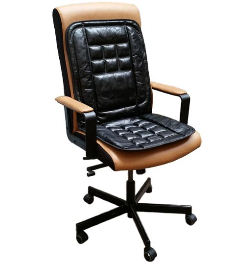 orthopaedic leather back support protect massage office chair seat cover cushion ebay