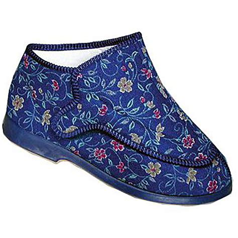 extra wide house slippers gbs rhona womens ladies extra wide fit indoor house slipper shoes slippers ebay