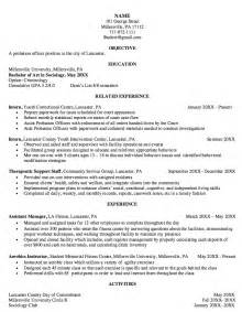 probation officer resume examples resumes design