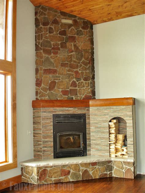 cozy corner fireplace ideas creative faux panels